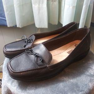 Clarks Black Leather Loafer Size 9.5